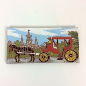 Horse-Carriage-St-Louis-Cathedral-New-Orleans-Ceramic-Tile-Jennifer-Roche-USA
