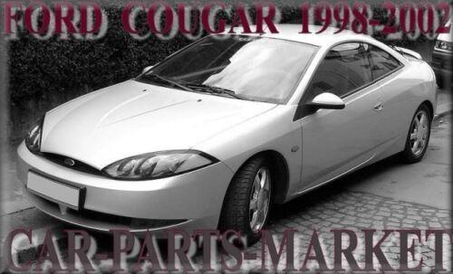 Pour Ford Cougar 98-02 Gauche Côté Passager Plat aile miroir de verre avec plaque