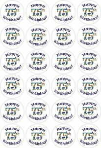 Image Is Loading 24 75th Birthday Cupcake Fairy Cake Toppers Edible