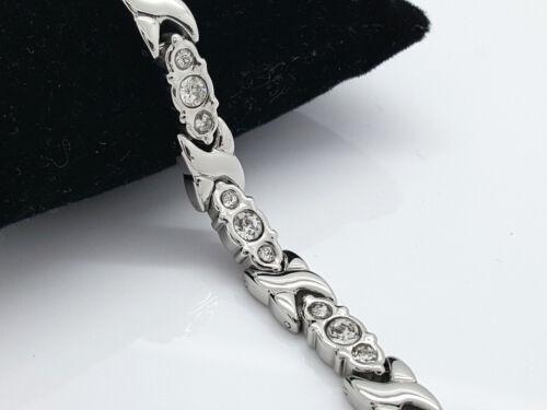 Damen elegant bio magnetisch Armband 4 in 1 with Zirkonia Steine MZ4
