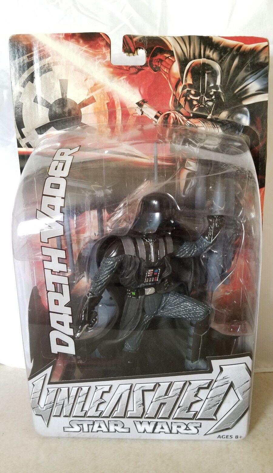 Star Wars Unleashed Darth Vader 2004 Damaged card