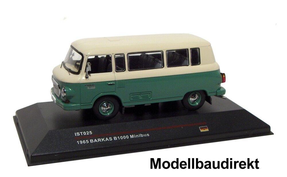 Barkas B1000 in green   grey Bj. 1965 1 43 IXO   IST 025 Cars & Co NEU & OVP