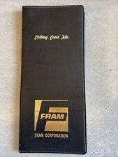 Vintage Advertising Fram Oil Business Calling Card Holder Book File