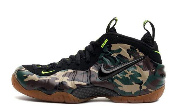 Nike Air Foamposite Size Pro LE Army Camo Size Foamposite 8. 587547-300 jordan penny e7325a