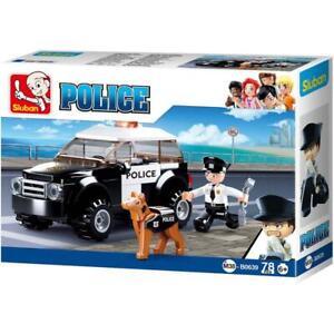 Sluban-Kids-Police-SUV-K9-Unit-Building-Blocks-78-Pcs-set-Building-Toy