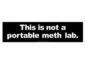 This-is-not-a-portable-meth-lab-Bumper-Sticker