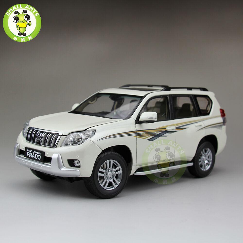 Échelle 1 18 toyota land cruiser prado diecast véhicule utilitaire sport modèle de voiture Blanc