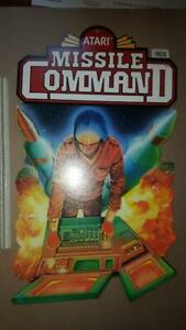 1982-Original-Atari-Vintage-Graphic-Arts-Poster-MISSILE-COMMAND-Rare-DOUBLE-SIDE