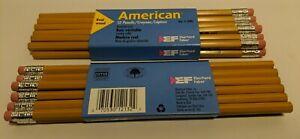 Vintage-Eberhard-Faber-American-Pencils-Real-Wood-2-HB-Lot-of-24