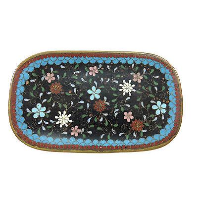 Japanese 1800's Cloisonne Enamel Pin Tray ~ Gold Flakes