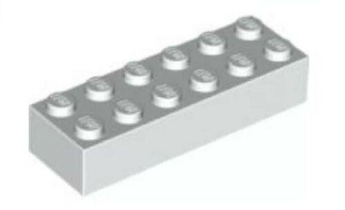6x2 white 2456 brand NEW 8x Brick 2x6 Lego