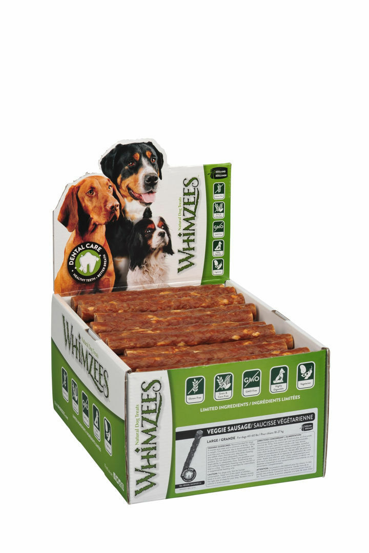 WHIMZEES Veggie salsiccia grande display 60g BOX pacco da 50