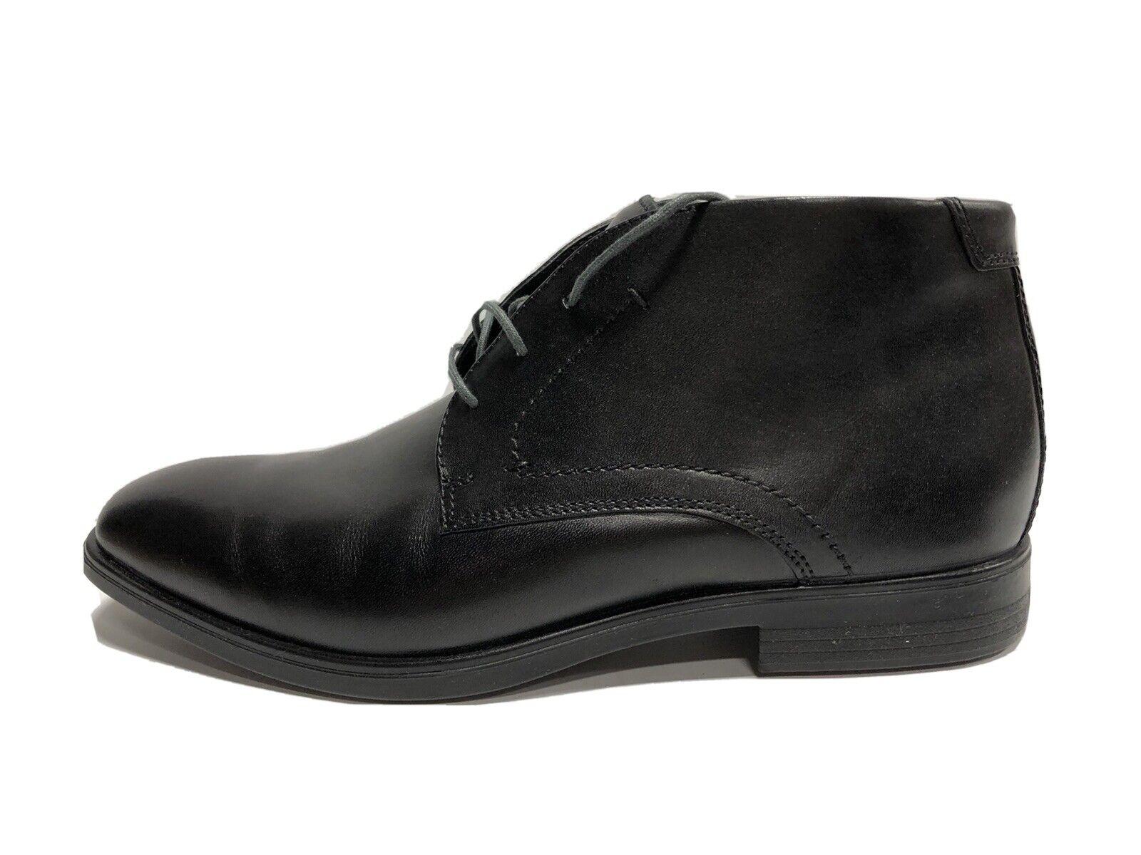 ECCO Melbourne Chukka Boot Black Leather EUR43 9-9.5 M