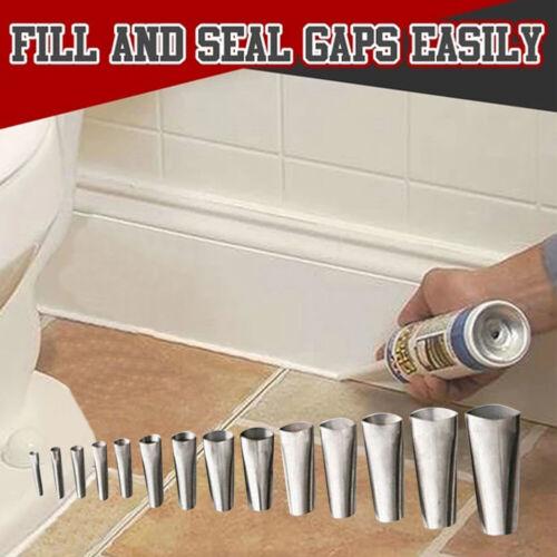 Stainless-Steel Applicator Tool 14pcs Finisher Caulking Nozzle Kitchen Push Rod