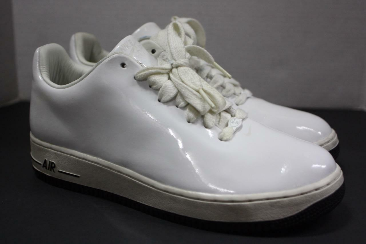Nike Air Force 1 White patent leather Rare 313644 411 size 10.5