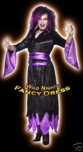 HALLOWEEN FANCY DRESS WIG # VAMPIRESS BLACK PURPLE