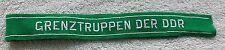 EAST GERMAN ARMY CUFF TITLE Border Guard Grenztruppen Der DDR NVA Uniform Patch