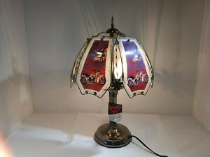 Details About Ok Lighting Motorcycle Bald Eagle 3 Way Touch Lamp