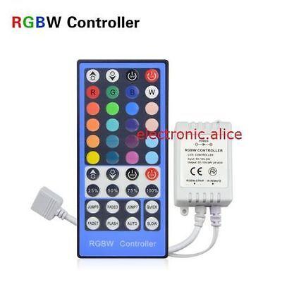 5M 600LED 120led/M Double Row 5050 RGBW RGB White Flex LED Strip light Black PCB
