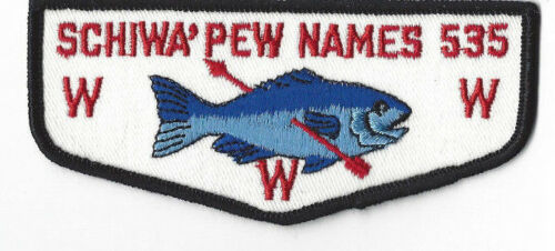 Y478 OA Lodge 535 Schiwa/'pew Names F2 Flap Merged 1992 Ocean County Council