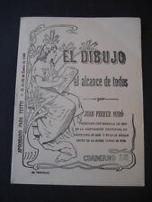 EL DIBUJO POR J. FERRER MIRO Nº14. ANTIGUO CUADERNO ESCOLAR AÑO 1907