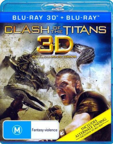 1 of 1 - Clash Of The Titans (3D + 2D Blu-ray, 2011, 2-Disc Set)