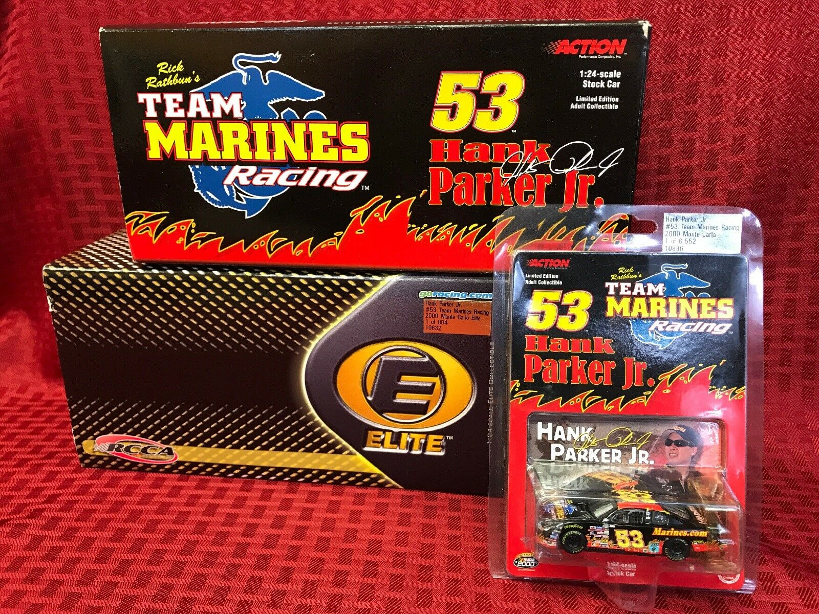 ACTION 2000 NASCAR  53 Hank Parker Jr. Team marine Racing  3 voiture Set