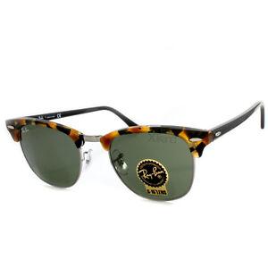 8688d6ef0ab Ray Ban RB3016 1157 Clubmaster Fleck Tortoise-Black Green Sunglasses ...
