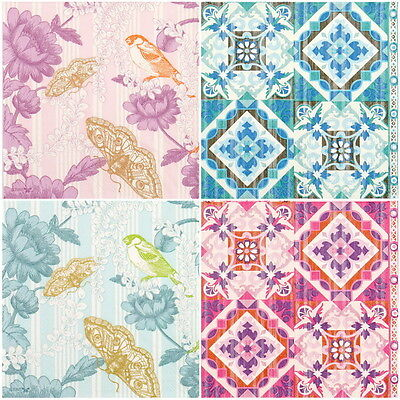 4x Paper Napkins for Decoupage Decopatch Craft Antique Birds Mix