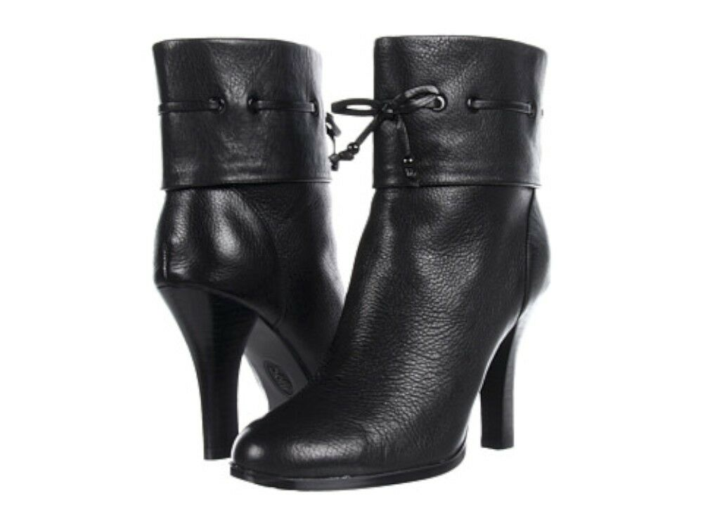 New $180 Sofft Womens Ballena Ankle Leather Booties Boots Shoes 7M 8M Black