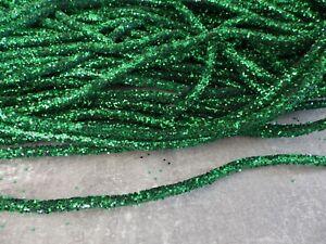One-metre-x-5mm-Bendable-Glitter-Rope-Tube-Ribbon-Christmas-Decs-Crafts-GREEN