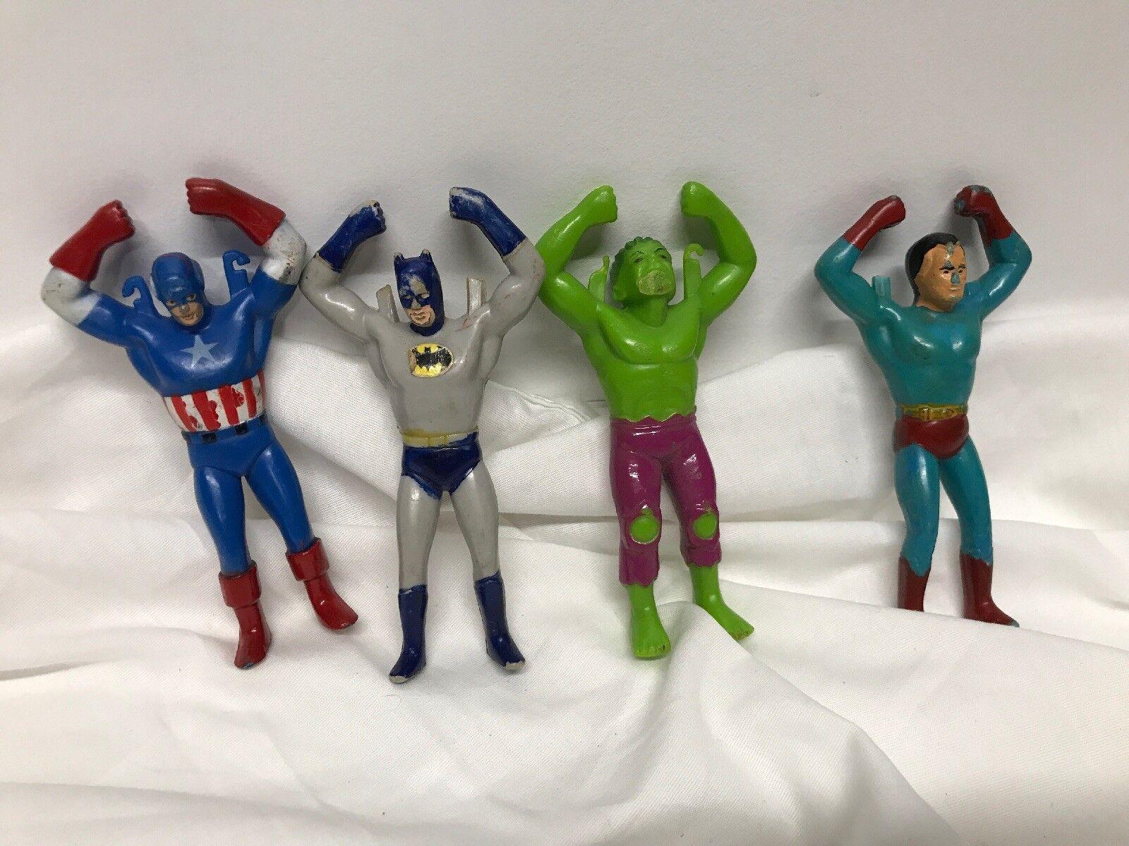 Vintage ahi 1979 superman   hulk   batman   captain america fly'em hoch -
