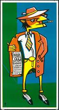 Pearl Jam Silkscreen Concert Poster 1996 Ames Bros New York Ben Harper Mint