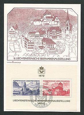 Post & Kommunikation Liechtenstein Mk 1972 Liba Block 9 Maximumkarte Carte Maximum Card Mc Cm D5463 Halten Sie Die Ganze Zeit Fit