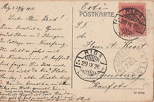 Stamp 1926 Latvia 15s Definitive On Postcard Sent Riga To