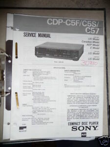 Tv, Video & Audio Warnen Service-manual Sony Cdp-c5f/c5s/c57 Cd-player Original Online Rabatt