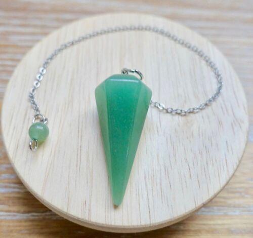 Pendulum Green Aventurine Stone Quartz Crystal Handmade Jewelry Meditation Reiki