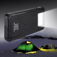 Portable 2USB 50000mAh 6LED Solar Power Bank Battery Charger For Phone Holder