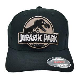 3f3365d1c60df Jurassic Park Movie Desert Camo Sci fi Patch Flexfit Black L-XL Size ...