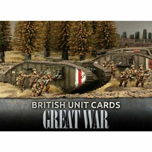 British-Unit-Cards-Great-War-Flames-Of-War-Battlefront-Miniatures-GBR901-New