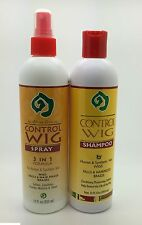 African Essence Control Wig Shampoo & Spray For Human Hair/Synthetic Hair