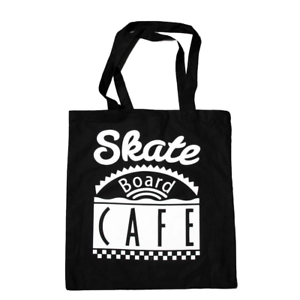 Genuine Skateboard Cafe Diner Logo Tote Bag - Black