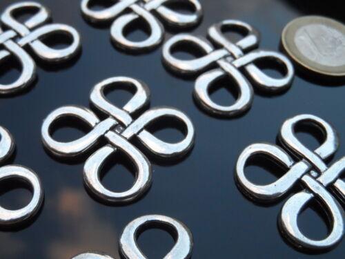 abalorios nudo simbolo celta amuleto bisuteria collar MIS-50 7 Colgantes Zamak
