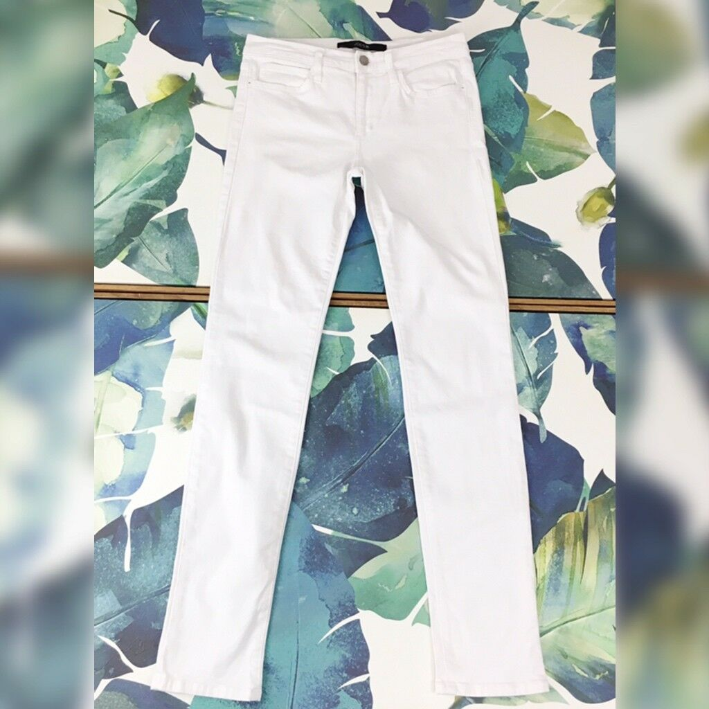 Joes Jeans Straight Jean Size 28 Bright White Mid Rise Stretch Denim Ankle Pants