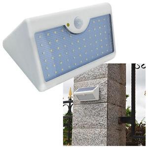 60 led solar lampe mit bewegungsmelder au en fluter. Black Bedroom Furniture Sets. Home Design Ideas