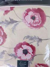 LAURA ASHLEY FLANNEL BACK TABLECLOTH 52 x 70  FRESHFORD NIP