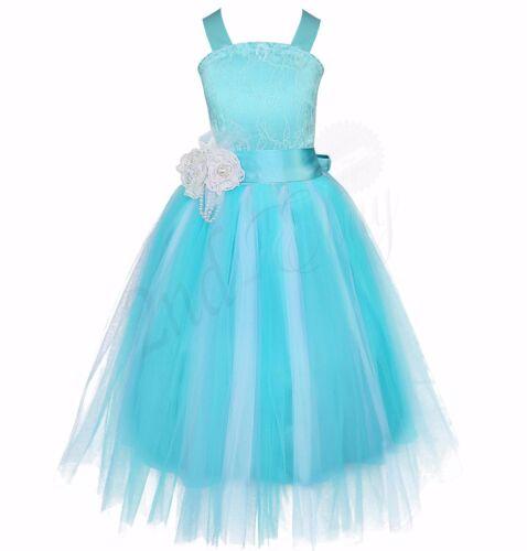 Flower Girl Dress Princess Birthday Wedding Bridesmaid Pageant Formal Tutu Dress