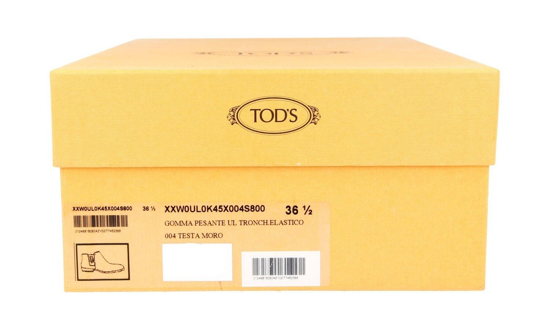 LUXUS TOD'S TOD'S TOD'S STIEFELETTE SCHUHE XXW0UL0K45X004S800 BRAUN NEU 36,5 37 11c9a2