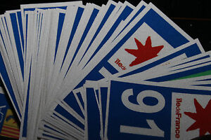 2 stickers REFLECHISSANT département 59+F