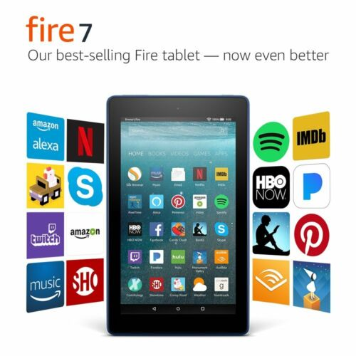 Amozon Fire HD 7 inch Tablets16 GB  5th Gen  Black with Pink cover